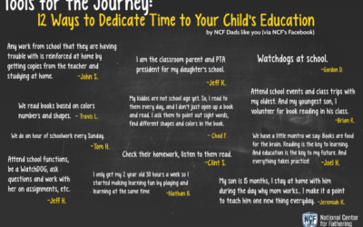 12 Ways to Dedicate Time to Your Child's Education – by NCF Dads like you!