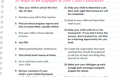 Ways to be Engaged in Your Child's Education