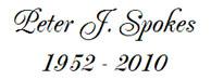 Peter J. Spokes 1952-2010