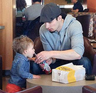 Dad-toddler-son-donut-shop-1
